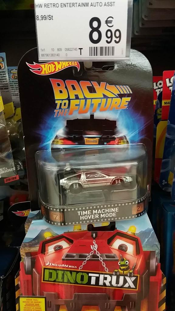 Back to the future Delorean Hotwheels elite