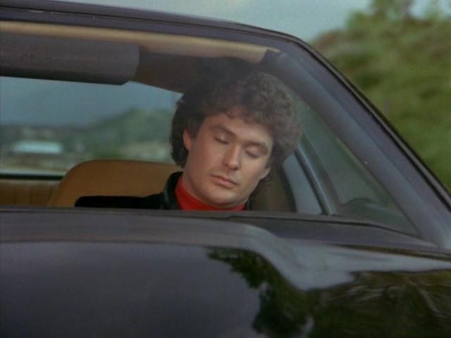 Michael Knight sleeping at the wheel