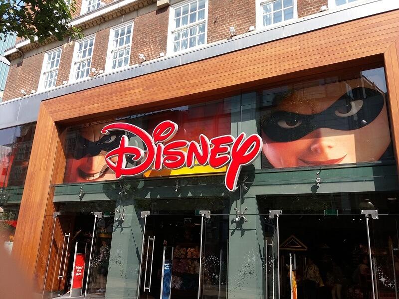 London Shopping Disney Store Oxford Street