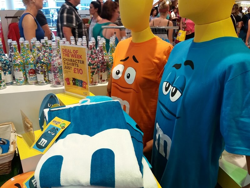 London Shopping M&Ms Store