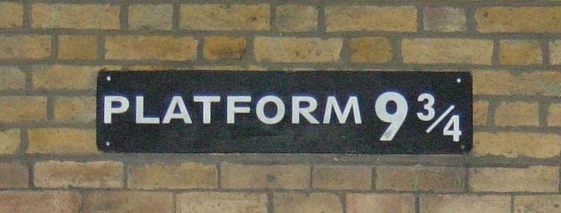 Platform 9 3/H Harry Potter London Kings Cross