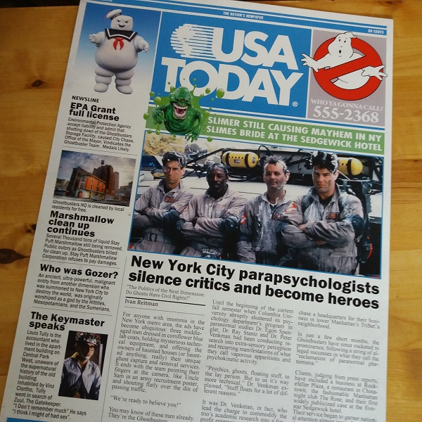 Ghostbusters Newspaper