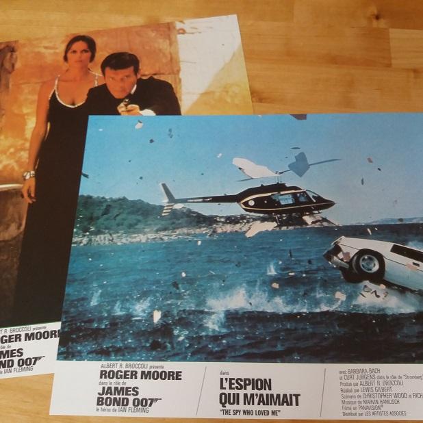 James Bond the spy who loved me lobby cards