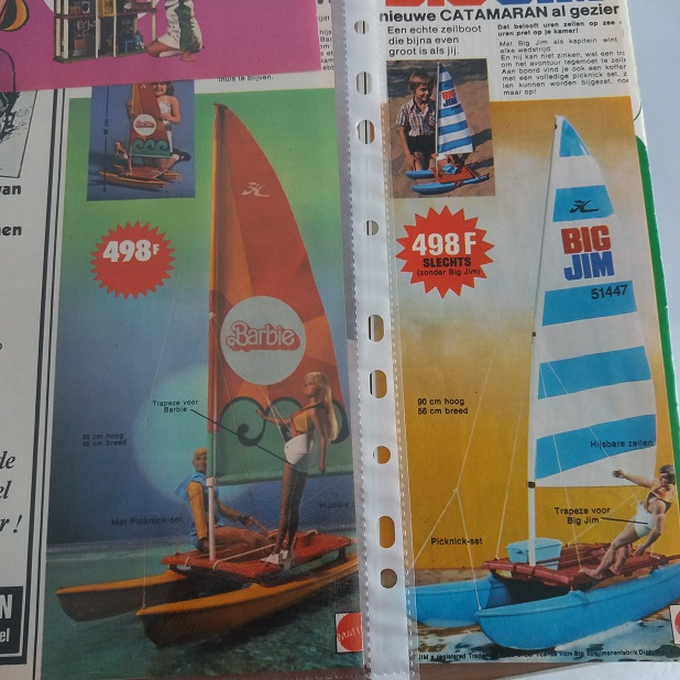 Mattel Big Jim Barbie Catamaran sailboat